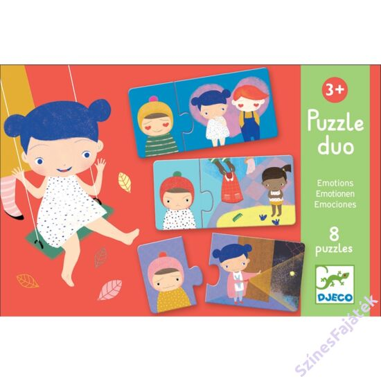 puzzle kicsiknek - párosító puzzle - érzelmek