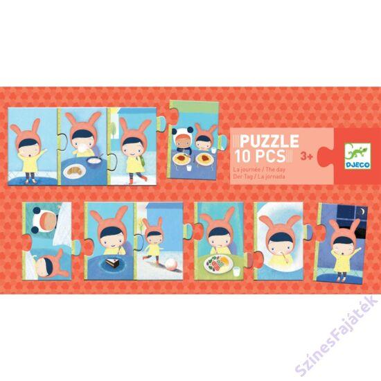 puzzle kicsiknek - párosító puzzle - egy nap