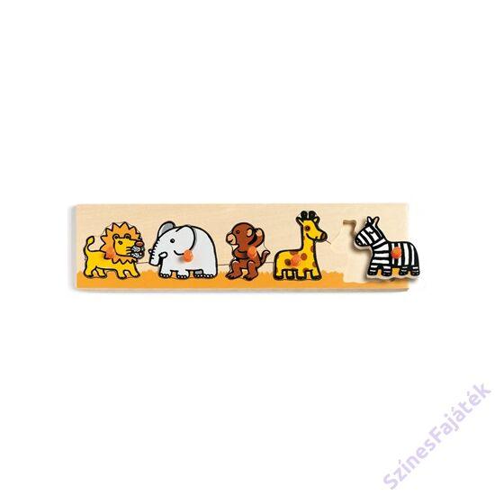 Djeco fogantyús puzzle - szavanna allatai -fajáték