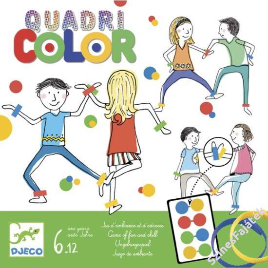 Djeco társasjáték - Színérintő -QuadriColor