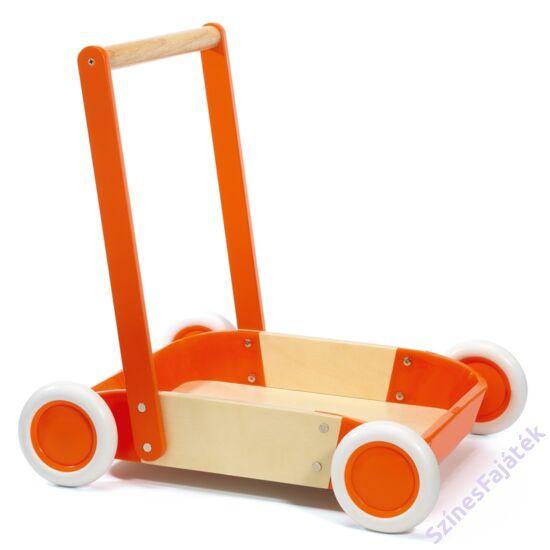 Djeco fa járássegítő babáknak - tolható - húzható kiskocsi