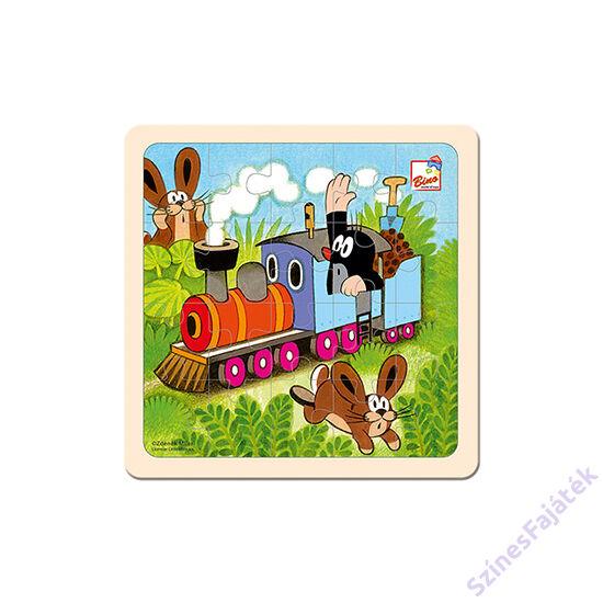 Fa kirakójáték - Kisvakond és a vonat - 20 darabos