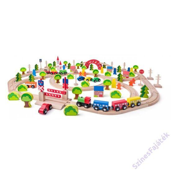 Fa vonat szett 120 darabos