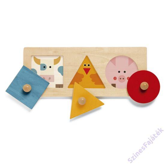 Montessori játék szín és formaválogató  - Alapformák