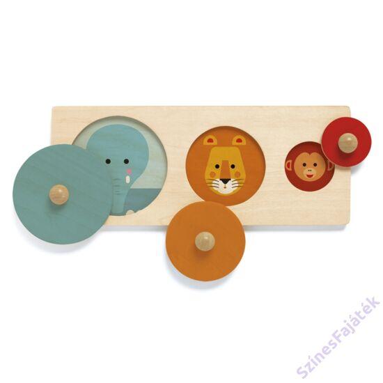 Montessori játék szín és formaválogató  - Alapformák- DJ6201