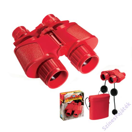 Kétcsövű piros gyermektávcső