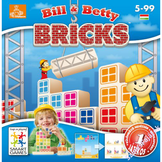 Bill & Betty Bricks - logikai játék- smart games