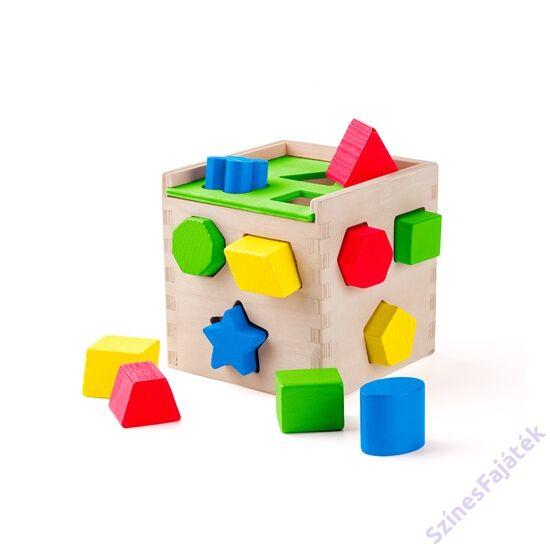 Woody szín és formaválogató montessori játék