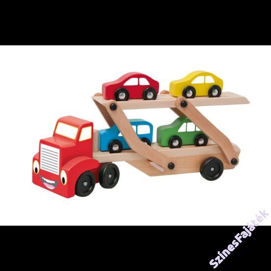 Autószállító kamion fajáték