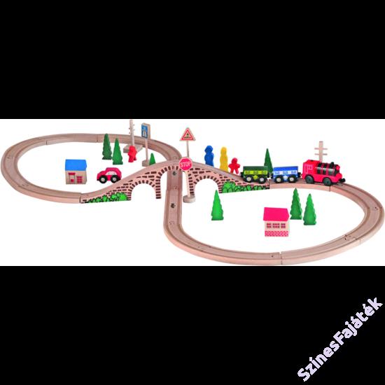 fa vonat szett_elemes mozdonnyal
