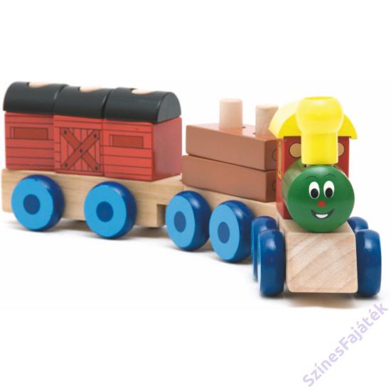 fa vonat vagonokkal