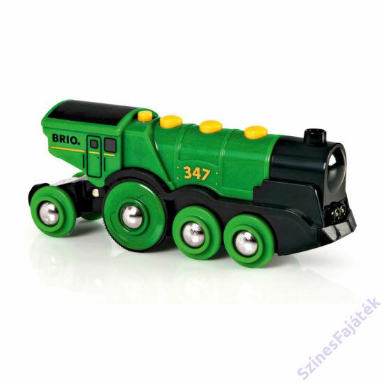Brió elemes mozdony - zöld
