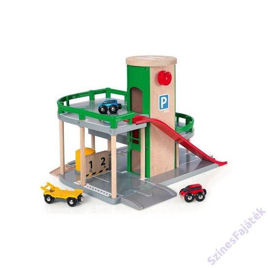 Brio játék parkolóház