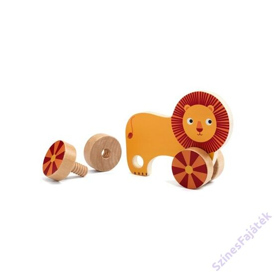 Djeco csavarozós készségfejlesztő játék - Állatok