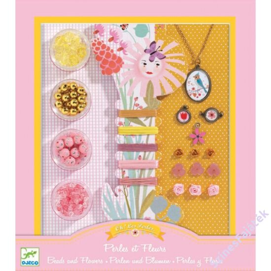 Djeco gyöngyök és virágok - ékszerkészítő játék