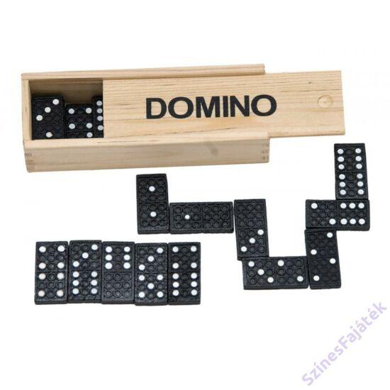 dominó fa dobozban