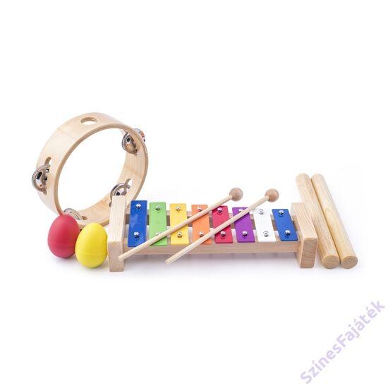 fa hangszer szett gyerekeknek