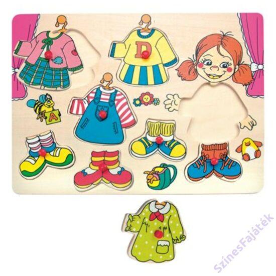 Fa öltöztetős játék - fogantyús puzzle