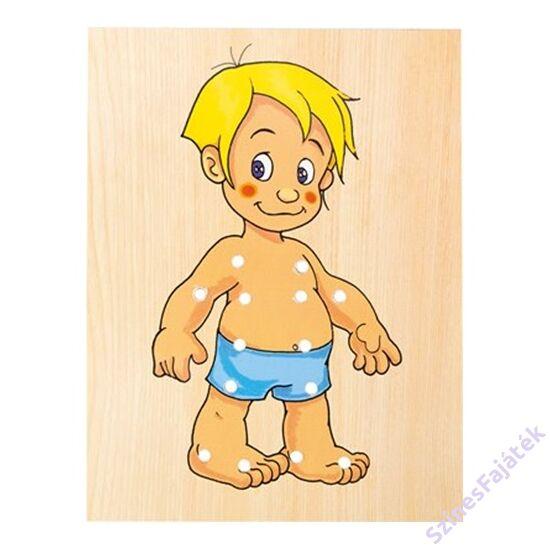 Fa öltöztetős játék, kézügyesség fejlesztő játék - Kisfiú