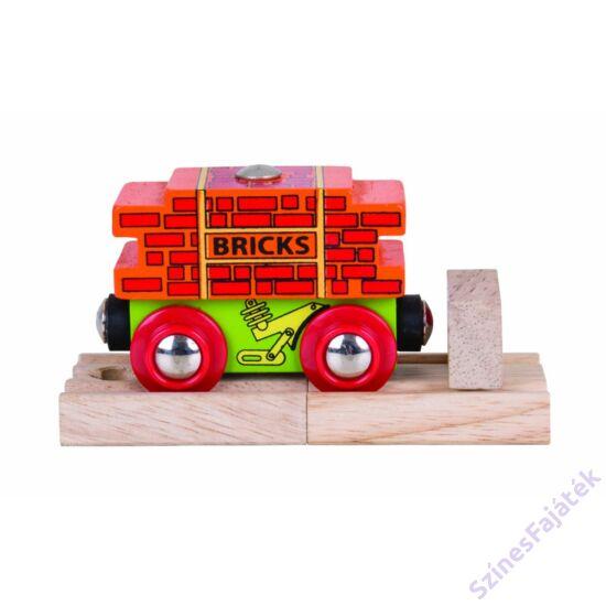 tégla szállító vagon - favonat