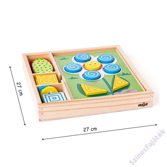 Geometriai formák kirakója - fejlesztő játék - montessori