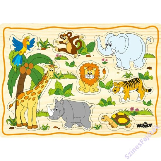 Woody fogantyús puzzle - Afrika állatai