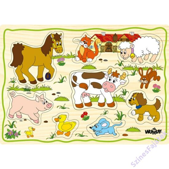 Woody fogantyús puzzle - Tanya állatai