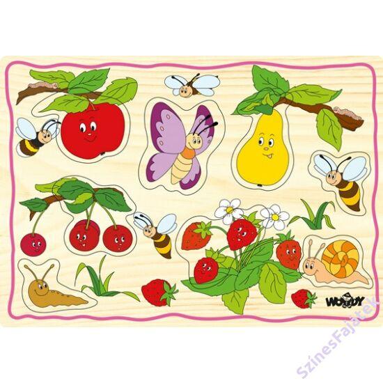 Woody fogantyús puzzle - Gyümölcsök