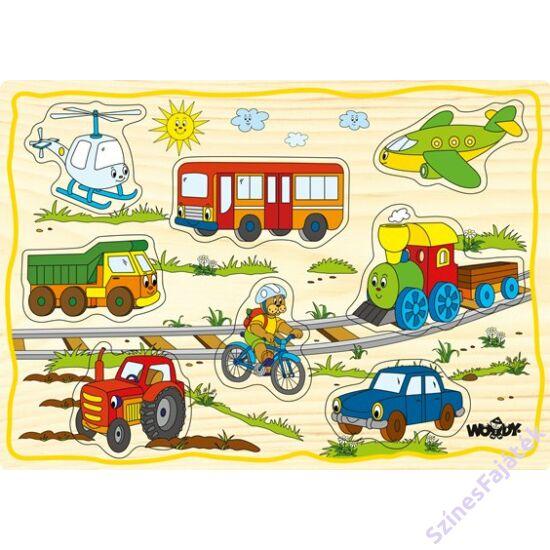 Woody fogantyús puzzle - Járművek