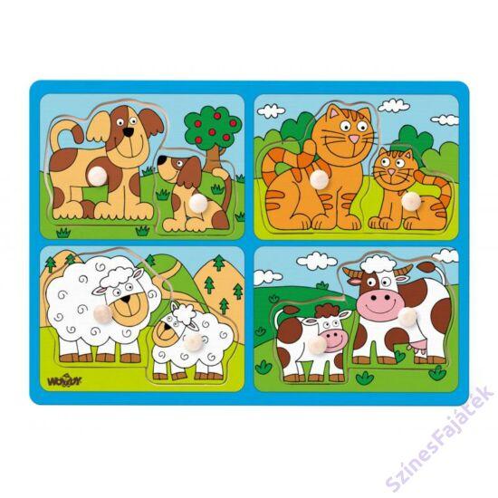 Woody fogantyús puzzle - háziállatok