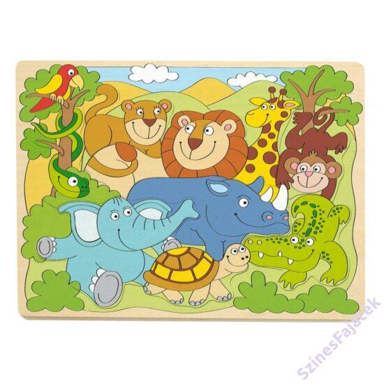 formakirako puzzle afrika állatai