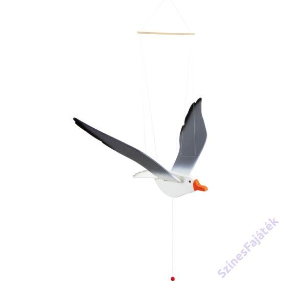 Függő mobil - Repülő sirály - fajáték - szobadekoráció