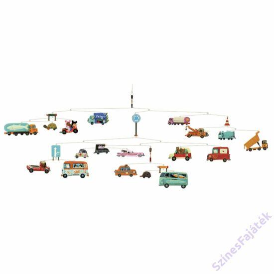Djeco függődísz - gyerekszoba dekor - Autók