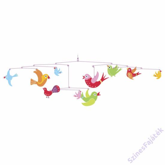 Djeco függődísz - gyerekszoba dekor  - Színes madarak