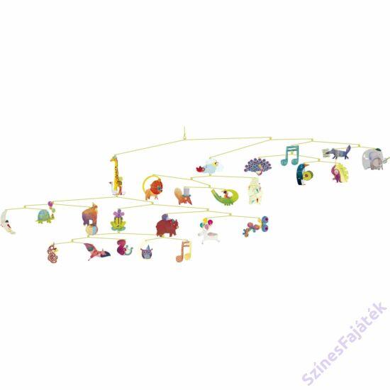 Djeco függődísz - gyerekszoba dekor  Állatok karneválja