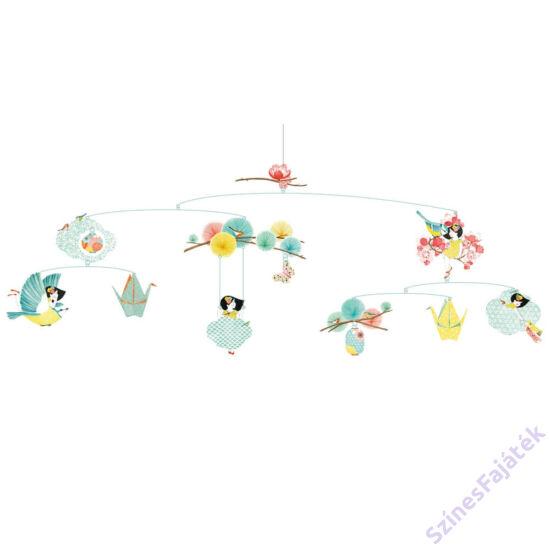 Djeco függődísz - gyerekszoba dekor - Az álmodozó lány