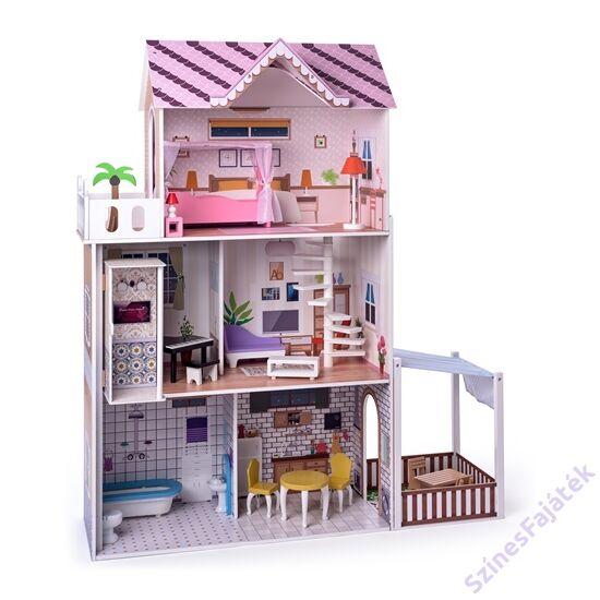 háromszintes babaház lifttel - Barbie babáknak is