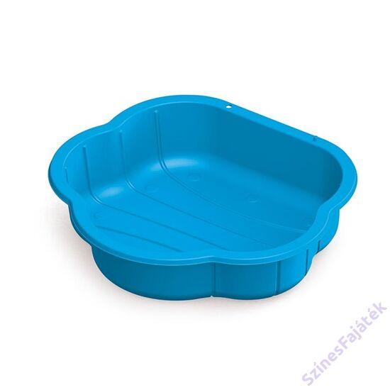 Dolu homokozó medence kék műanyag