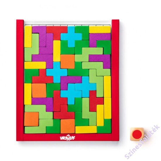 Logikai fejtörő fa tetrisz játék