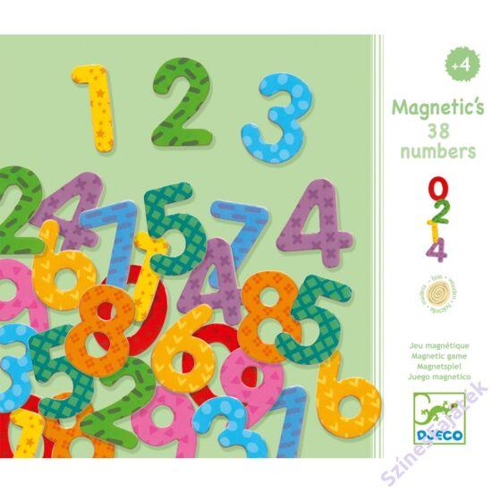 Djeco Mágneses számkészlet - 38 darabos