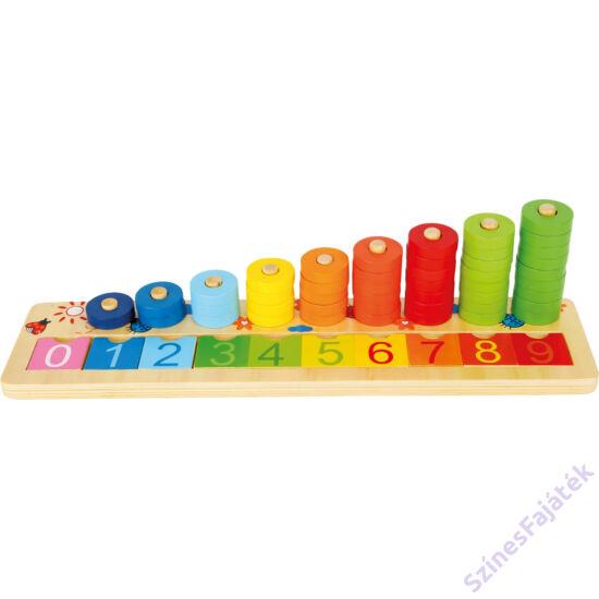 Abakusz - számoló játék - matematikai fejlesztő fa játék - montessori játék