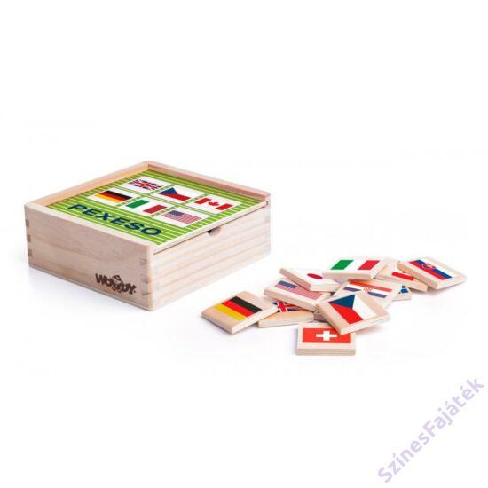 Zászlók - memória fa játék