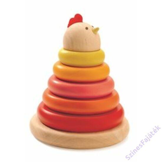 Montessori torony- Tyúkocska - fajáték D6303