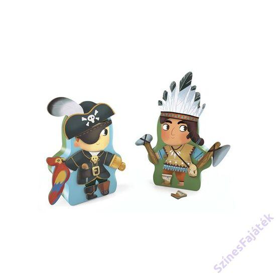 Djeco mágneses öltöztető játék- Mesehősök