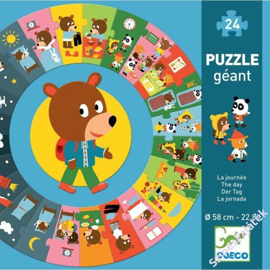 Djeco Mackó egy napja - 24 darabos óriás puzzle
