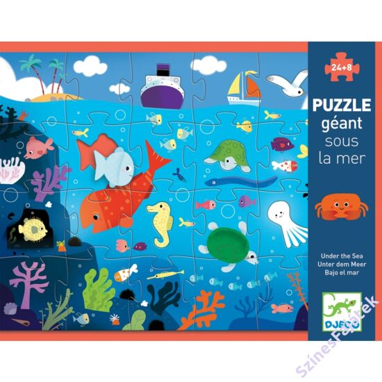 Djeco A tenger - óriás kirakó játék - 24 darabos