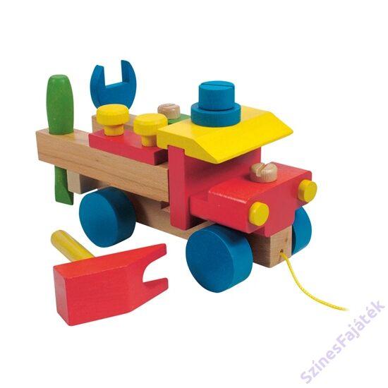 összeszerelhető fa teherautó