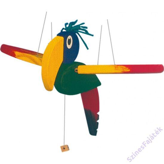 színes fa papagáj